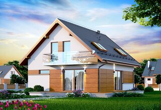 Casa cu ferestre mari