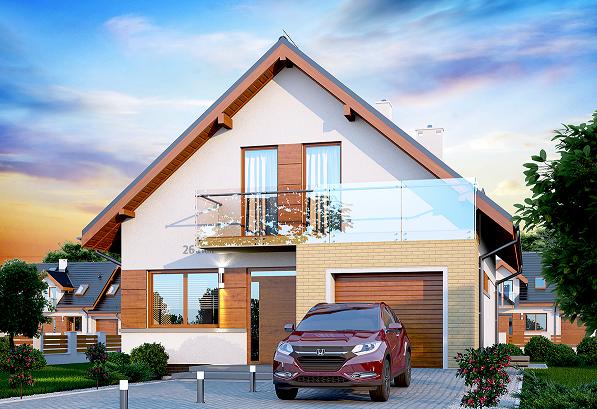 Proiect de casa moderna cu ferestre mari din sticla securizata