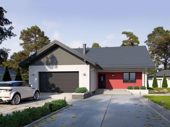 Proiect de casa moderna cu garaj si pod - Ideea de amenajare a interiorului este geniala