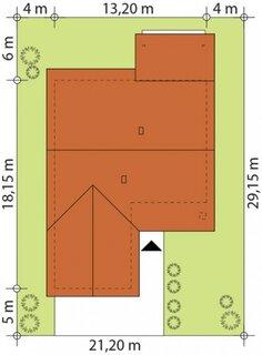 Dimensiuni teren casa moderna cu 3 dormitoare