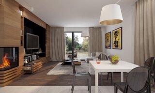 Living cu mobilier maro
