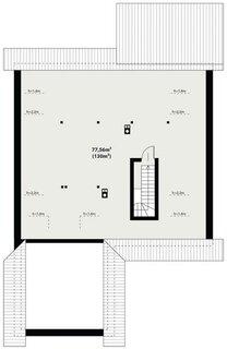 Plan pod casa modern cu 3 dormitoare