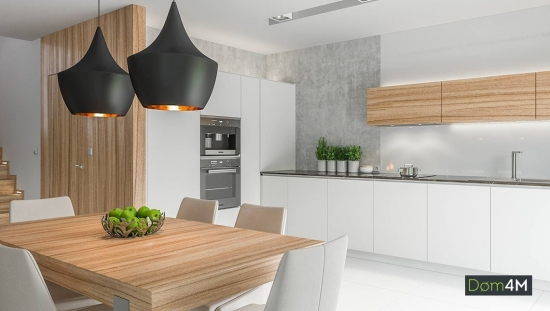 Bucatarie moderna cu mobilier alb