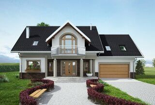 Casa cu mansarda si garaj lateral