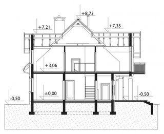 Cote inaltime casa cu mansarda si garaj