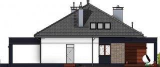 Elevatie laterala casa pentru familii mari