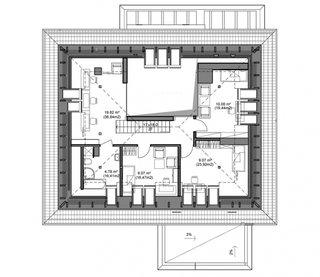 Plan etaj 56 mp cu casa scarii inalta