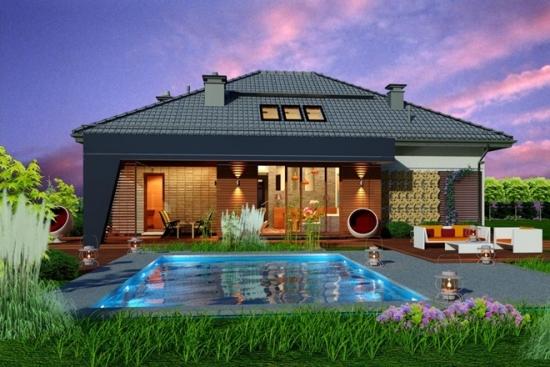 Casa moderna cu mansarda : proiectul perfect pentru familiile numeroase