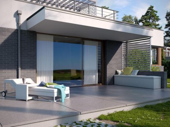 Casa cu terasa la etaj