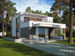 Casa moderna cu terasa