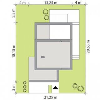Dimensiuni casa moderna P+1