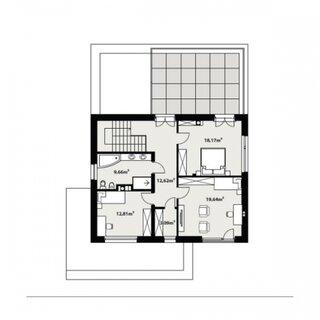 Plan etaj casa moderna P+1