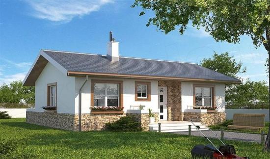 Casa cu parter si 2 dormitoare - proiect si imagini pentru o locuinta de 70 metri patrati