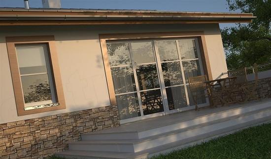 Vedere terasa in spatele casei