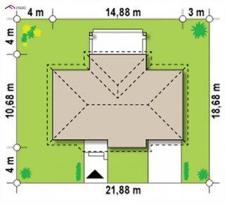 Cote teren amplasare casa cu parter