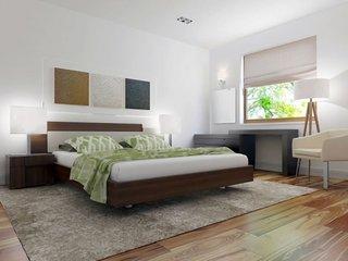 Accente de verde in dormitor