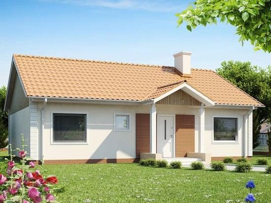 Casa parter cu 3 dormitoare si suprafata de 112 mp - proiect ieftin