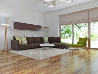 Coltar de sufragerie din stofa maro inchis