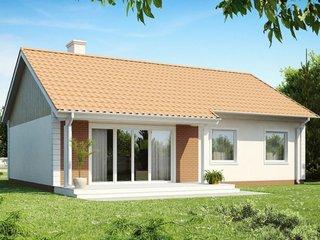 Proiect casa ieftina parter vedere dinspre gradina