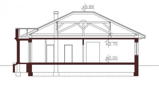 Plan vertical casa cu trei dormitoare