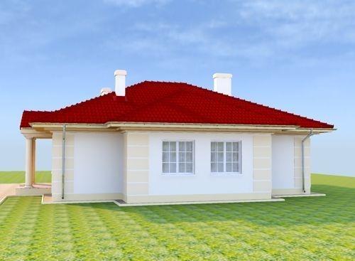 Vedere laterala casa cu pod