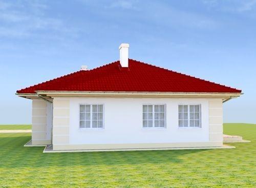 Vedere laterala casa fara etaj