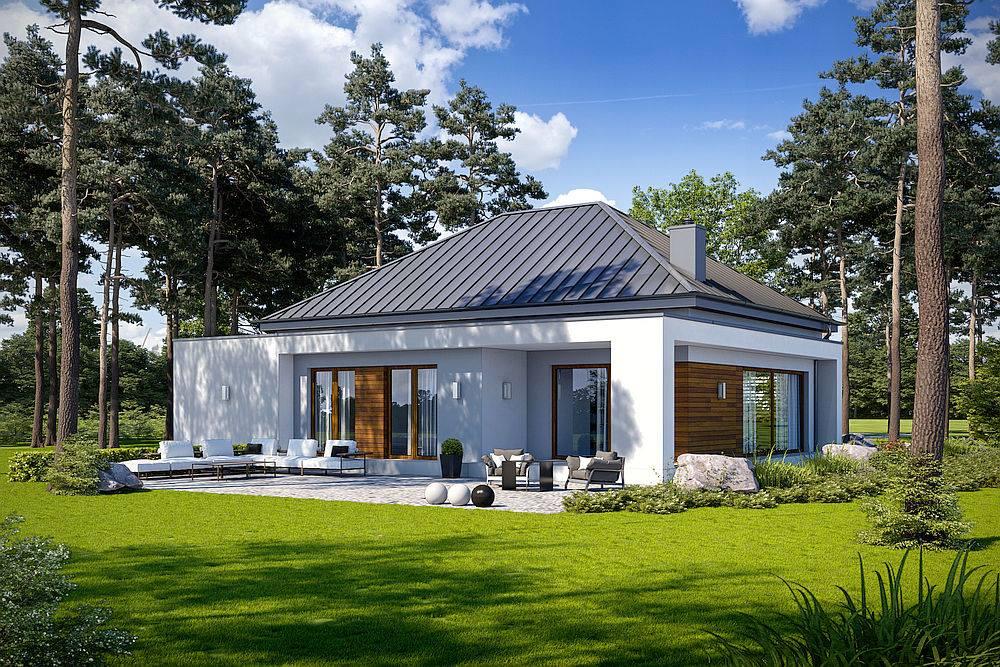Casa moderna cu parter si geamuri mari