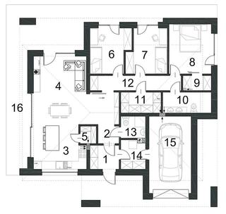 Impartire camere casa parter 123 mp plan