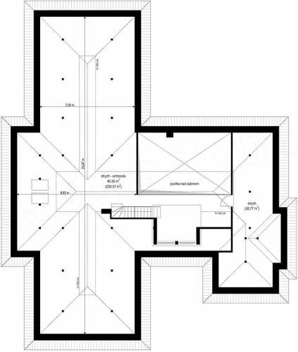 Plan pod casa cu garaj dublu