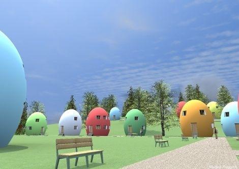 Proiect de case in forma de ou tehnologie pasiva pentru o economie de energie