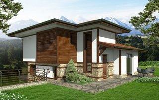 Casa cu demisol partial