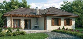Proiect casa rustica parter cu 3 dormitoare
