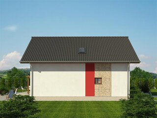 Elevatie laterala casa cu arhitectura simpla