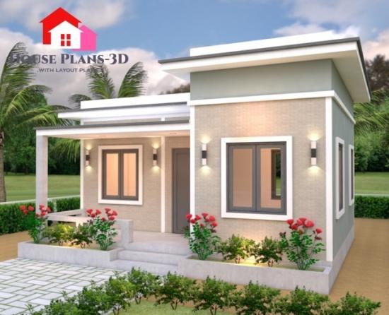 Casa cu acoperis plat 42 mp