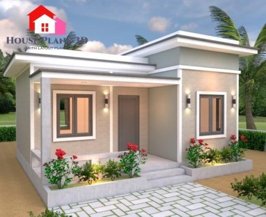 Priveste aceasta casa cu un singur dormitor - are 42 de mp si tot confortul pentru o familie de 2 persoane