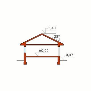 Plan vertical casa parter cu 3 dormitoare
