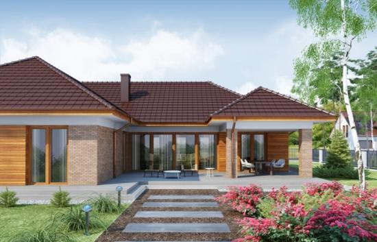Proiect de casa spatioasa construita pe un singur nivel - perfecta pentru tineri