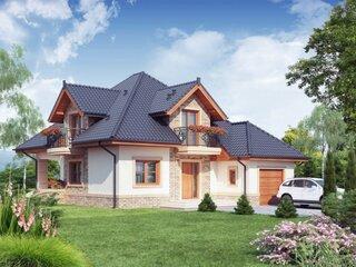 Casa cu mansarda de 80 mp