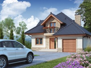 Casa cu mansarda si garaj integrat