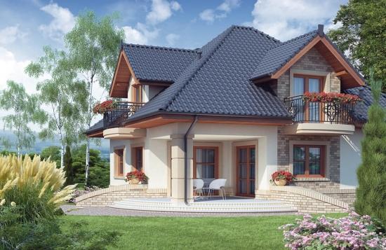 Casa superba cu mansarda si balcoane