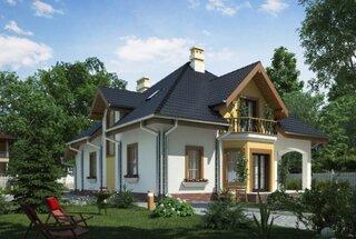 Casa superba cu mansarda si bovindou