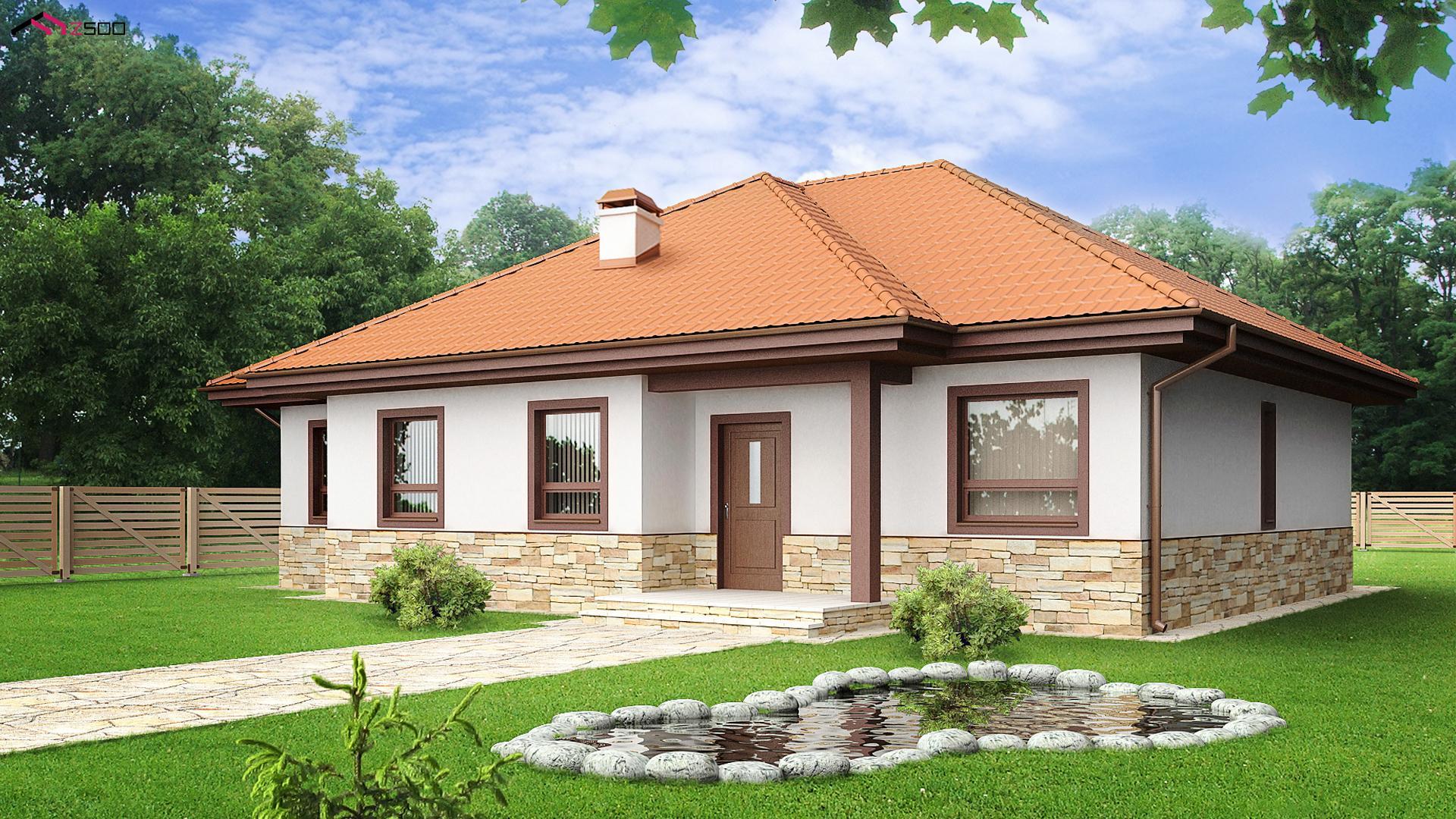 Un proiect de nota 10 - Casa superba  pe un singur nivel