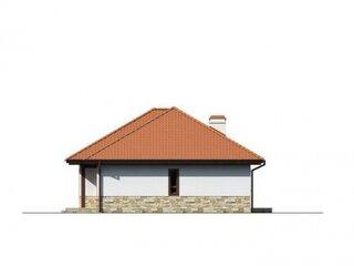 Elevatie laterala casa pe un nivel