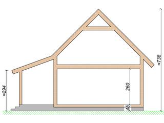 Cote de inaltime pentru casa vacanta din lemn