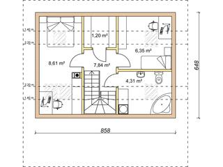 Etaj casa de vacanta 20 mp