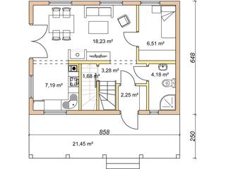 Parter casa vacanta 42 mp