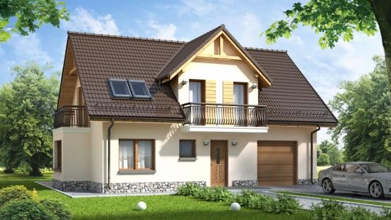 Casa cu lucarna si ferestre de mansarda