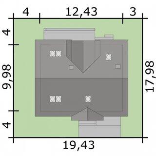 Dimensiuni teren casa cu 4 dormitoare si balcon