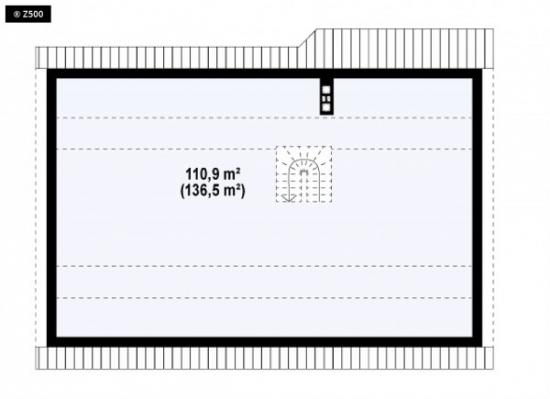 Plan pod casa cu 3 dormitoare