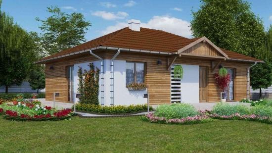Proiect 2 casa cu fatada cu lemn